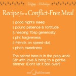 recipe for conflict free meal_112414